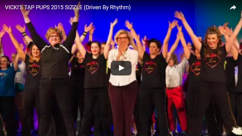 "Vicki's Tap Pups 2015 Sizzle <br /><span style=""font-size:10pt"">Driven by Rhythm</span>"