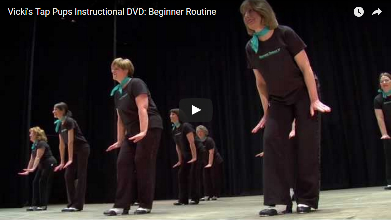 Vicki's Tap Pups Instructional DVD: Beginner Routine