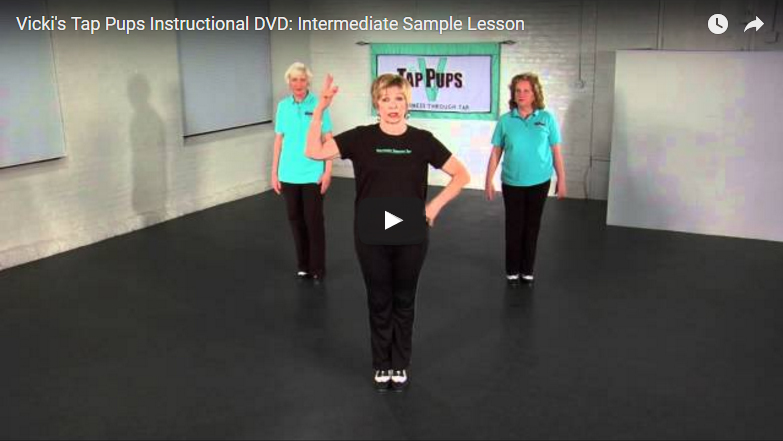 Vicki's Tap Pups Instructional DVD: Intermediate Sample Lesson