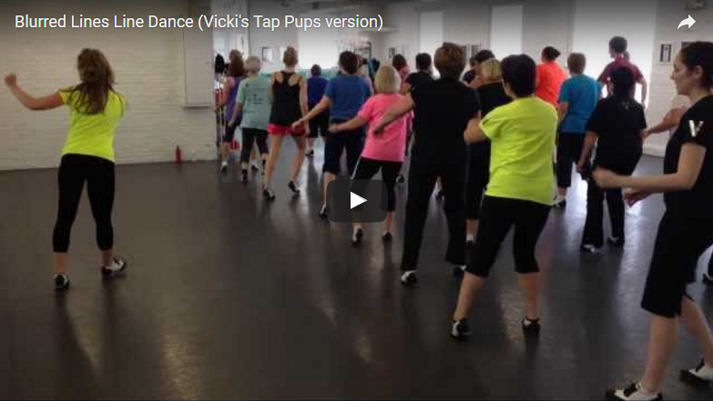 Blurred Lines Line Dance (Vicki's Tap Pups version)