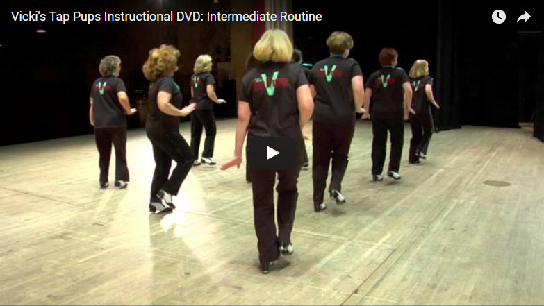 Vicki's Tap Pups Instructional DVD: Intermediate Routine