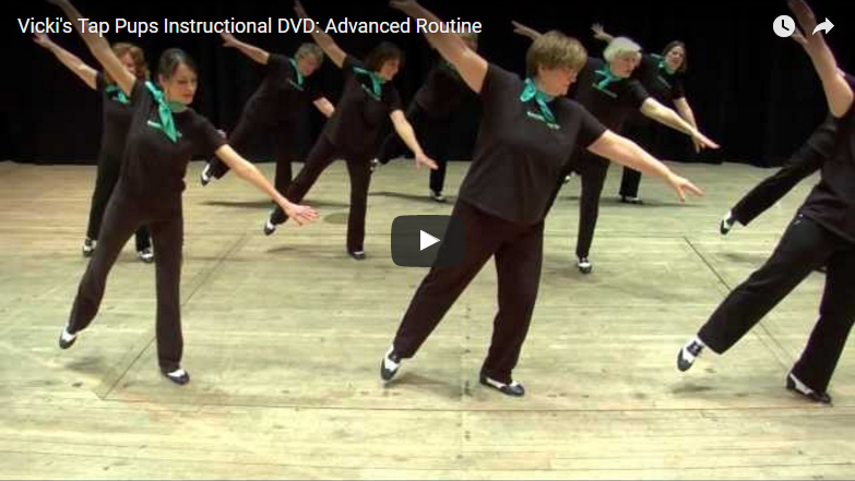 Vicki's Tap Pups Instructional DVD: Advanced Routine