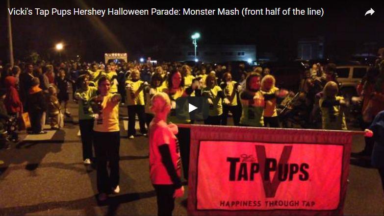 Vicki's Tap Pups Hershey Halloween Parade - 2013: Monster Mash (front half of the line)