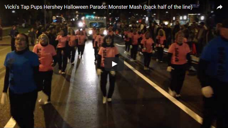 Vicki's Tap Pups Hershey Halloween Parade - 2013: Monster Mash (back half of the line)