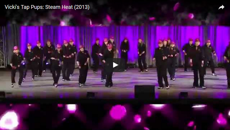 "Steam Heat<br /><span style=""font-size:10pt"">Vicki's Tap Pups LIVE</span>"